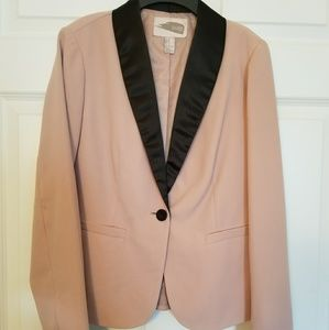 Blush dress blazer